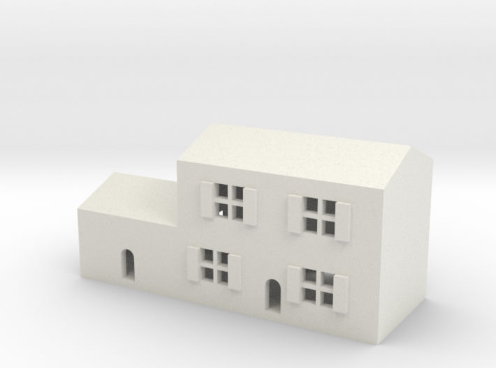 1/600 Town House 3 3d printed