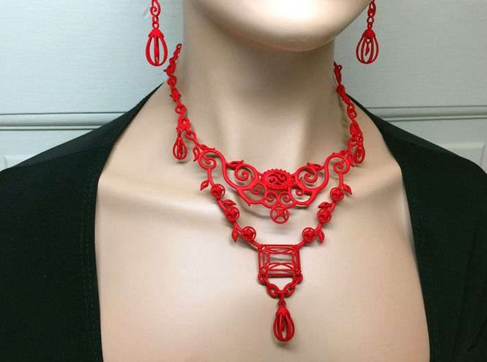 Eloquent Vines Necklace - Modern Elegance Series 3d printed