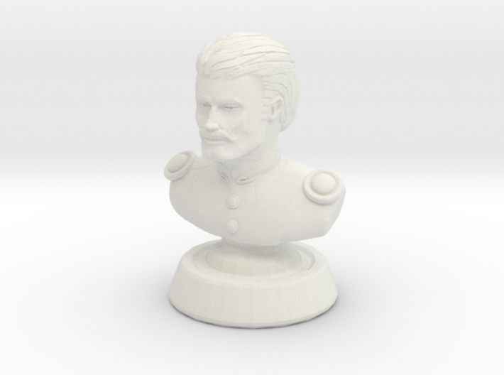 Duke de crecy bust - neutral color man 3d printed