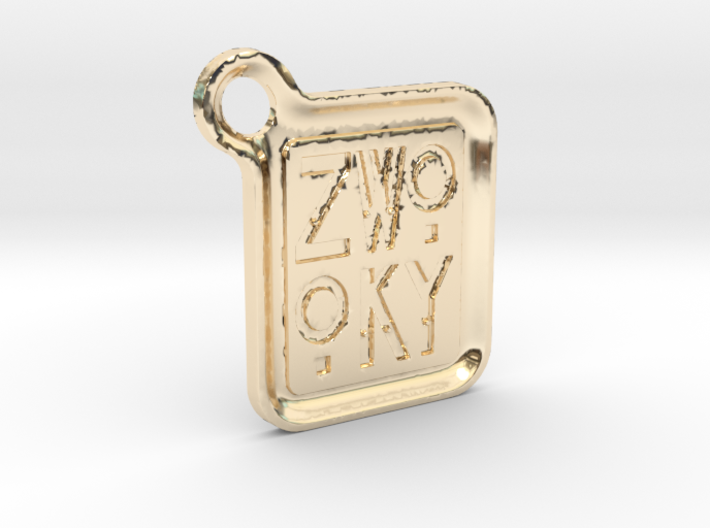 ZWOOKY Keyring LOGO 12 5cm 3.5mm rounded 3d printed