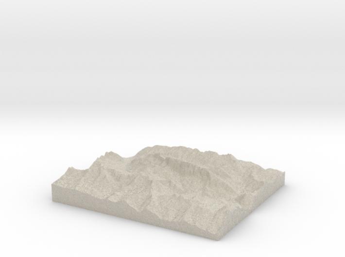 Model of Marmolada 3d printed