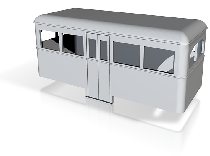 OO9 rail bus 4w center car 3d printed