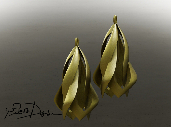 Blossom Earrings / Blossom Wave Earrings 3d printed