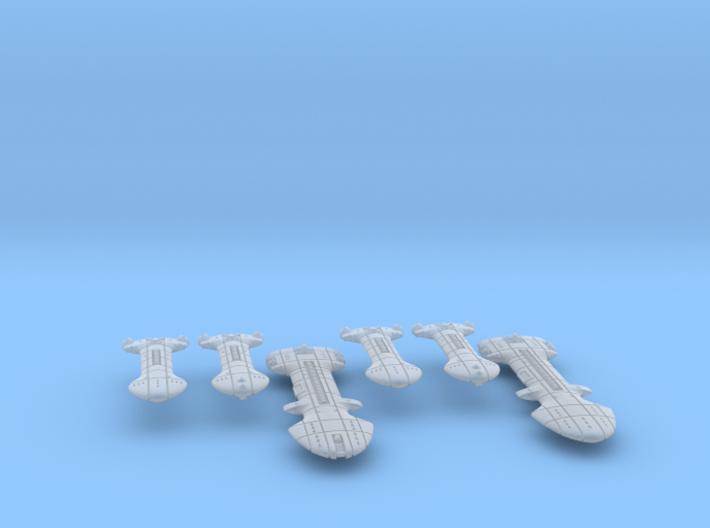 Rigellian (RPSA) Cruiser Squadron 3d printed