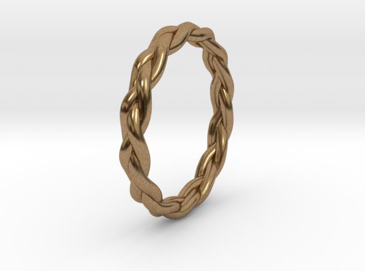 Braid Ring 3d printed