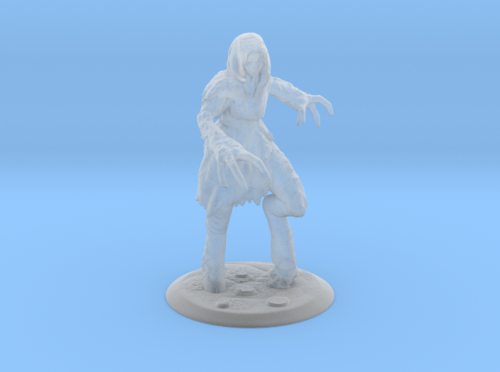 Dragon Girl Fantasy Miniature 3d printed