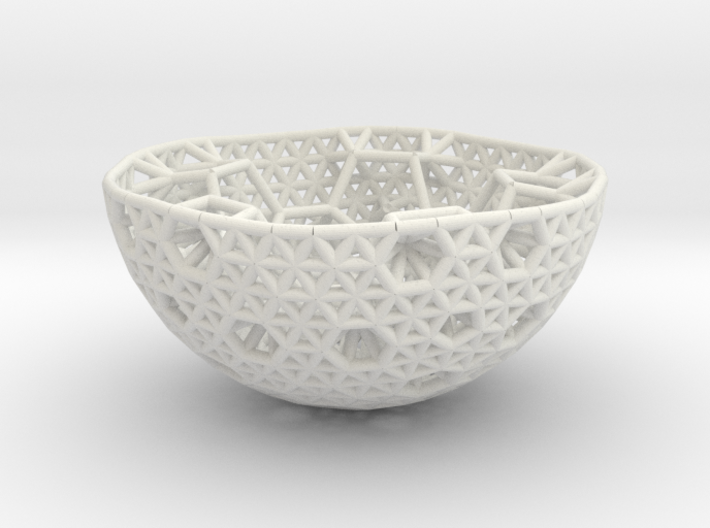 Cell Sphere 9 - Hex Pent Bowl 3d printed