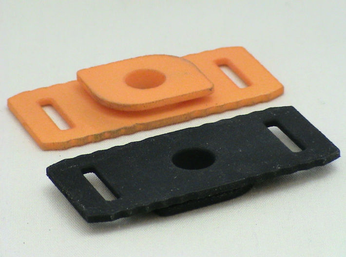 Velcro Hot Wheels Track Anywhere 3d printed Track Connectors printed here