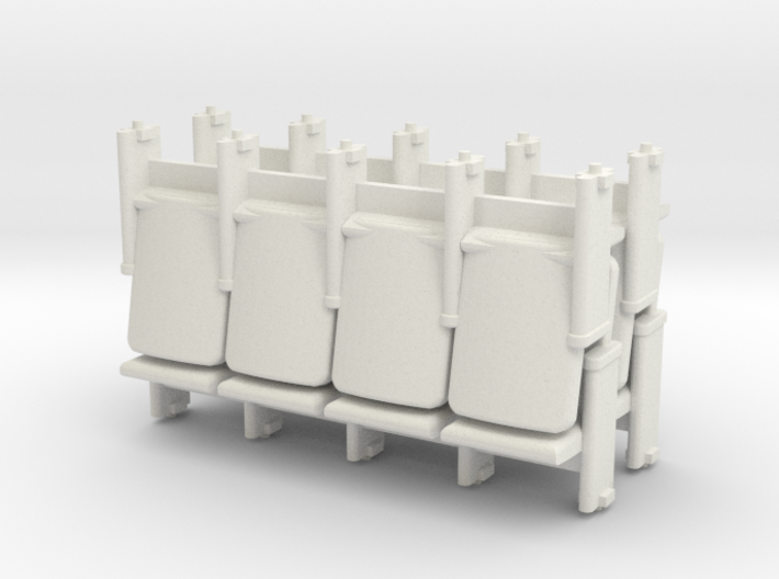 4 X 4 Theater Seats HO Scale 3d printed