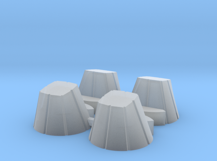Ariane 4 PAL Skirts for the Heller kit 3d printed