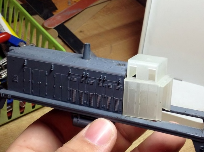 HO-Scale UP TR-5 Dynamic Brake Box 3-Pack 3d printed Test Fit Model & Photo By Jeff Davis.