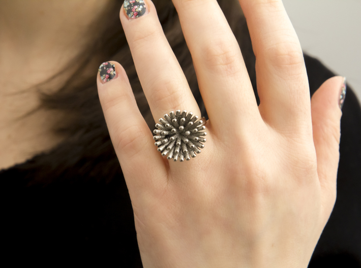 Spike Ring - US 5 size 3d printed