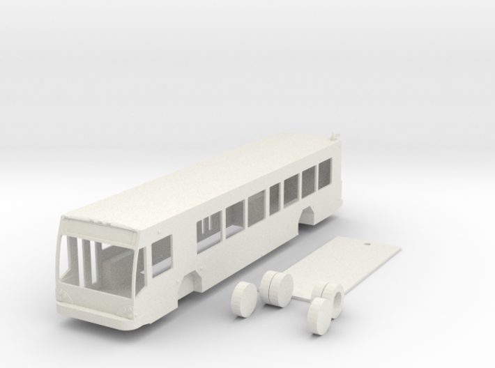 HO scale Gillig low floor BRT bus 3d printed
