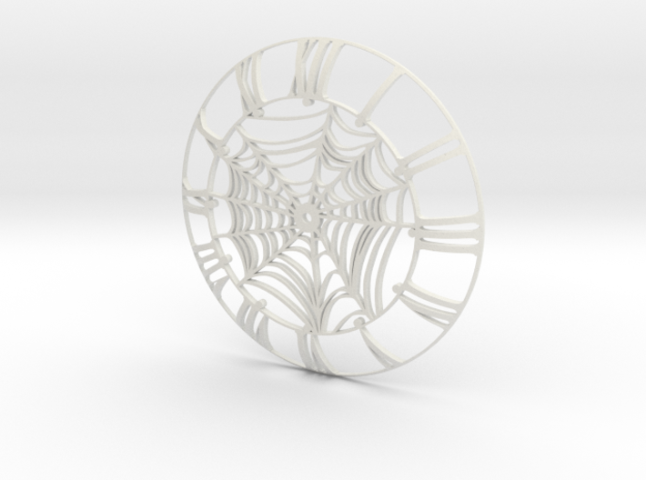 Spider's Web Clock Face 3d printed