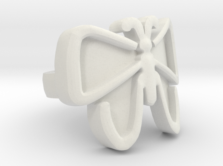 The Unfolding Butterfly Ring (US Size 5.5) 3d printed