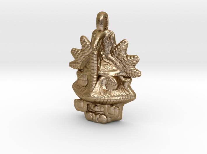 MAYAN Designer Jewelry Pendant Mask 3d printed