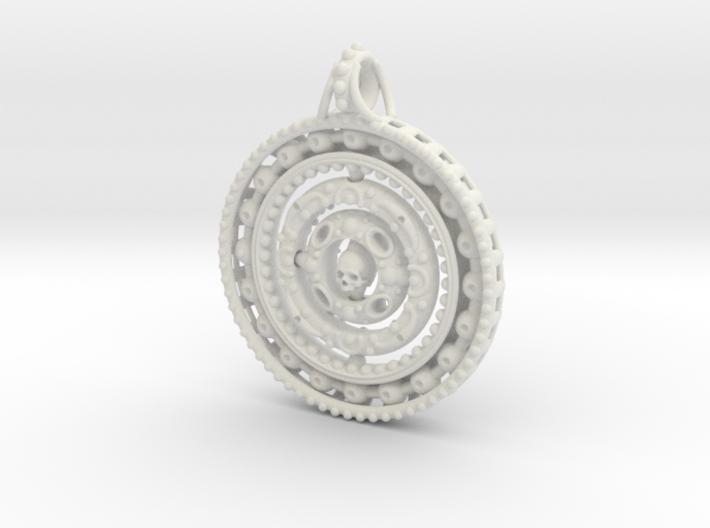 Skull Gyroscope 3d printed