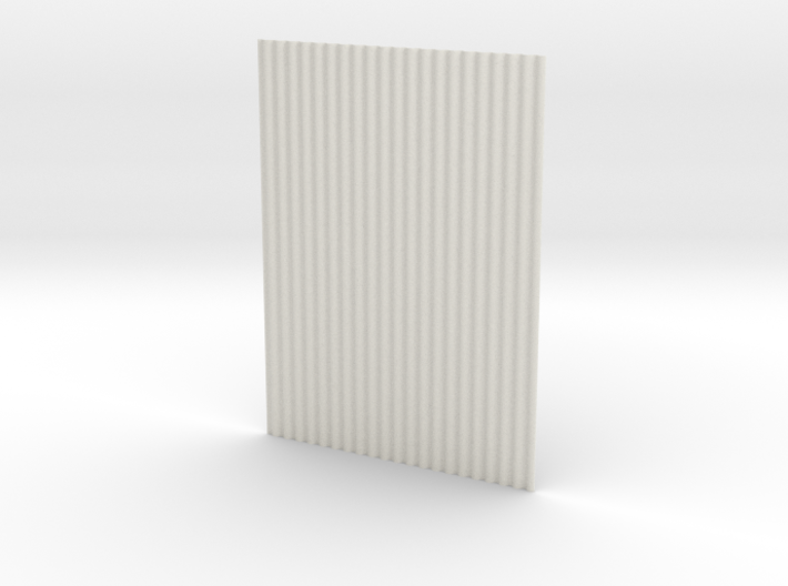 1:6 corrugated panel 3d printed