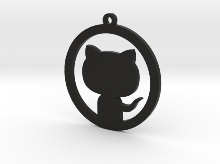 Octocat Keychain 3d printed