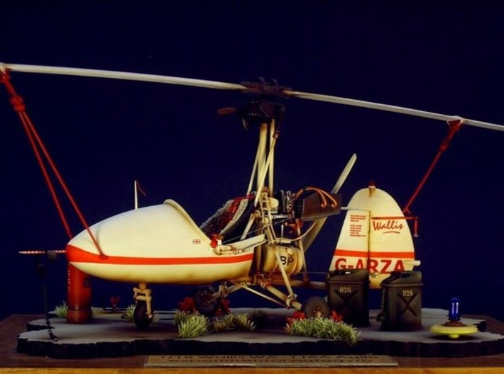 1/16 scale Wallis WA-116 Agile autogyro model kit 3d printed