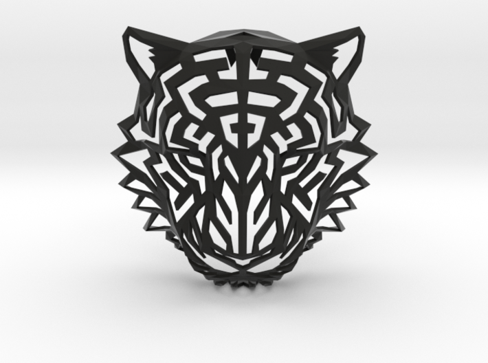 Modern Faux Taxidermy - Tiger Head (S) 3d printed
