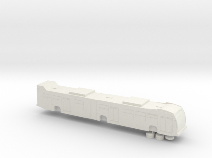 HO scale Nova LFS articulated bus (solid) 3d printed