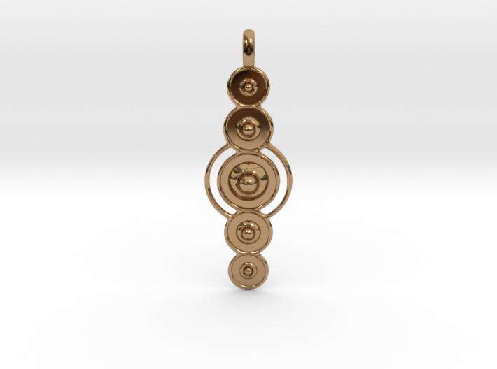 COSMIC PLANETS Designer Jewelry Pendant 3d printed