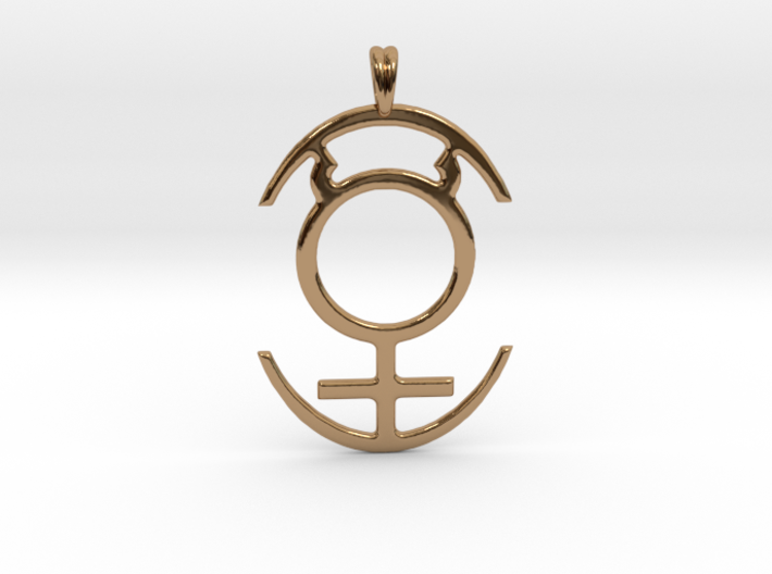MERCURY PLANET Symbol Jewelry Pendant 3d printed