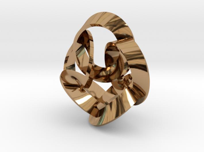 5 Twisted Loops Earring 3d printed