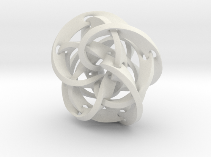 Knotted Torus Strips fused Together 3d printed