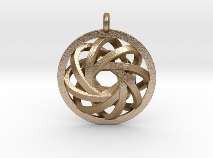ATOM CORE Designer Jewelry Pendant 3d printed
