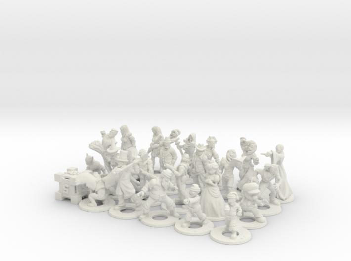 Epic Battle Figures 3d printed