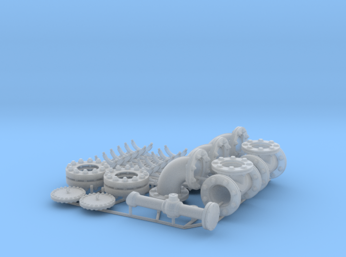 Pipeline accessory system Set 3 3d printed