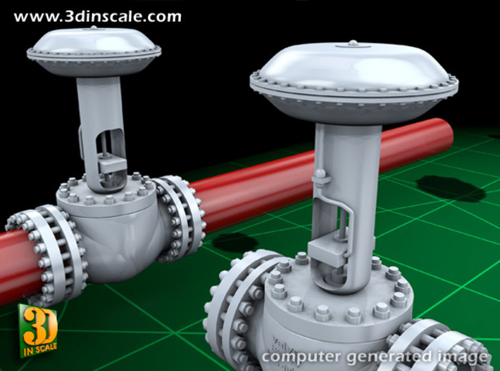Pipeline Accessory System Valve4 3d printed Add a caption...
