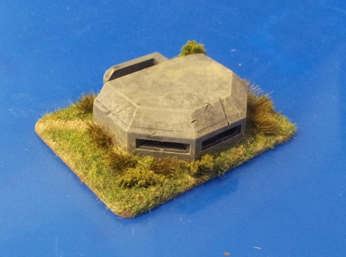 MG Pillbox 3 3d printed painted and based