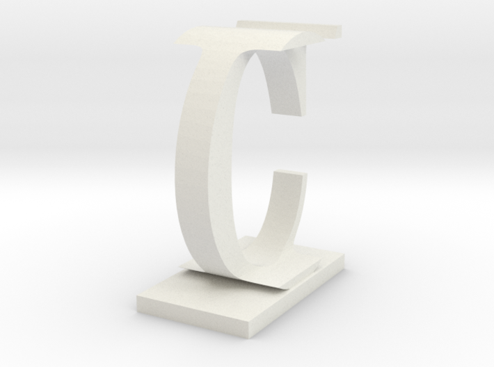 Two way letter / initial C&I 3d printed