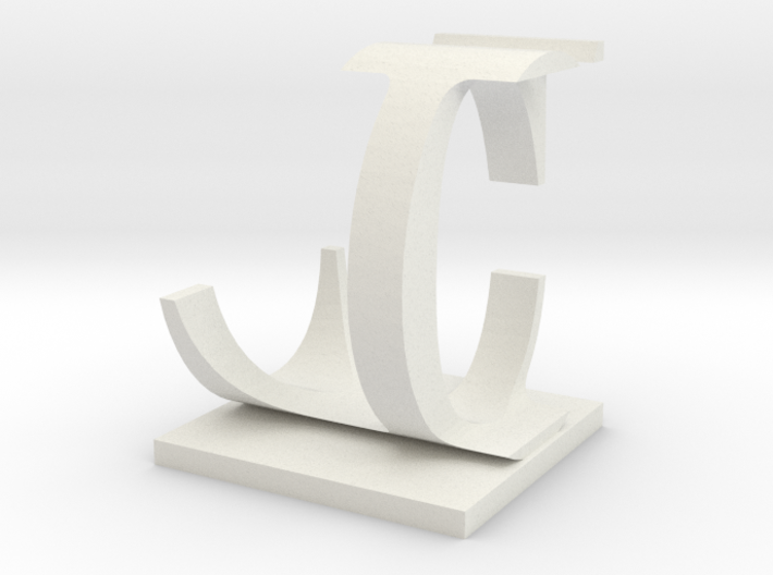 Two way letter / initial C&L 3d printed