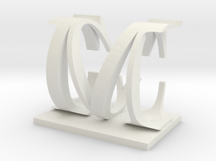 Two way letter / initial C&M 3d printed