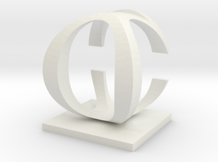 Two way letter / initial C&O 3d printed