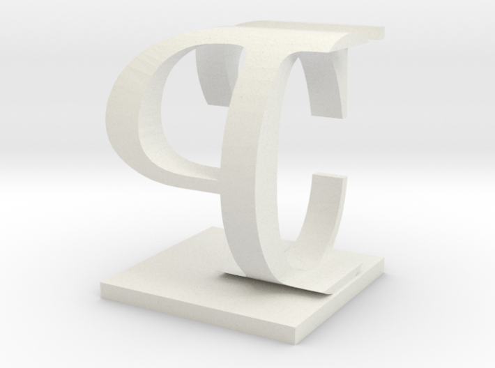 Two way letter / initial C&P 3d printed