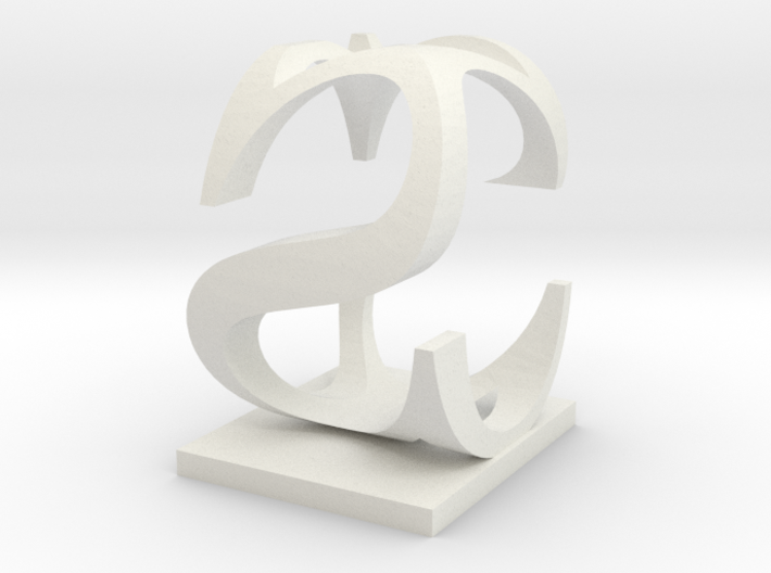 Two way letter / initial C&S 3d printed