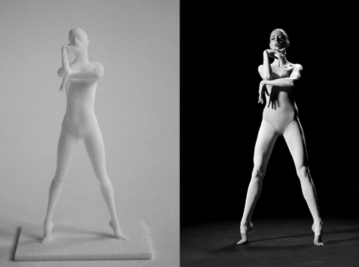 Coco Rocha Pose 325 3d printed Study of Pose 325