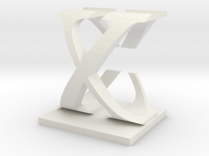 Two way letter / initial C&X 3d printed