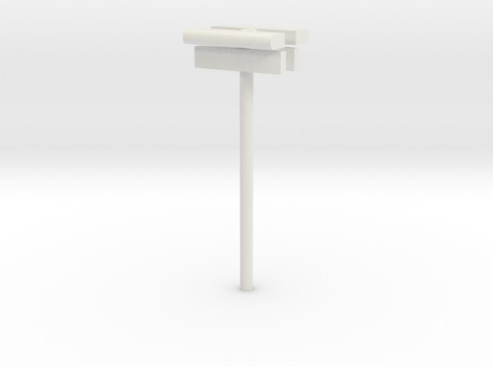 1/160 - DSB Stations lampe (dobbelt) med stations 3d printed