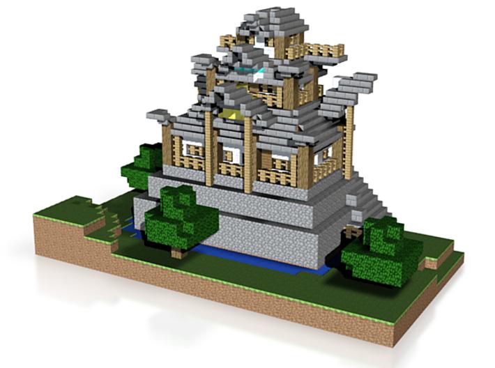 Tuuvas Japanese Castle Left Side 3d printed