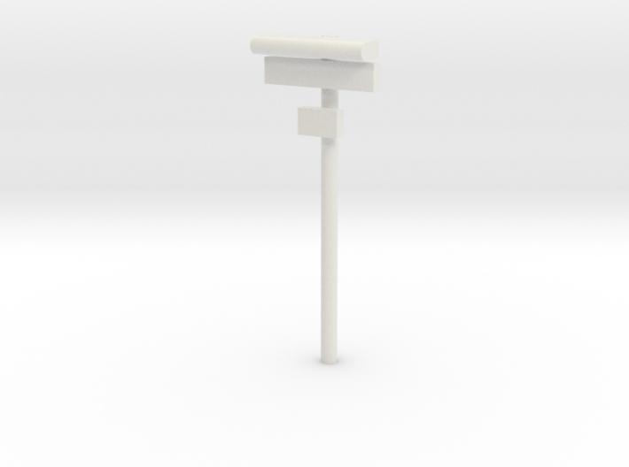 1/160 - DSB Stations lampe med skilt og lille unde 3d printed
