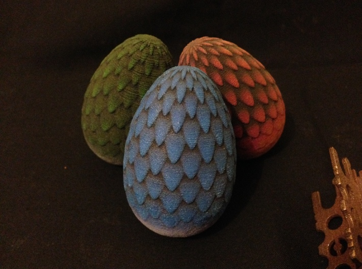 6cm Blue Dragon Egg (solid) 3d printed