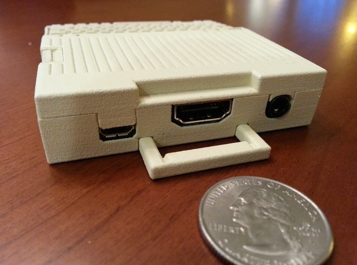 Apple IIc Raspberry Pi Model A+ Case   3d printed WSF, painted.