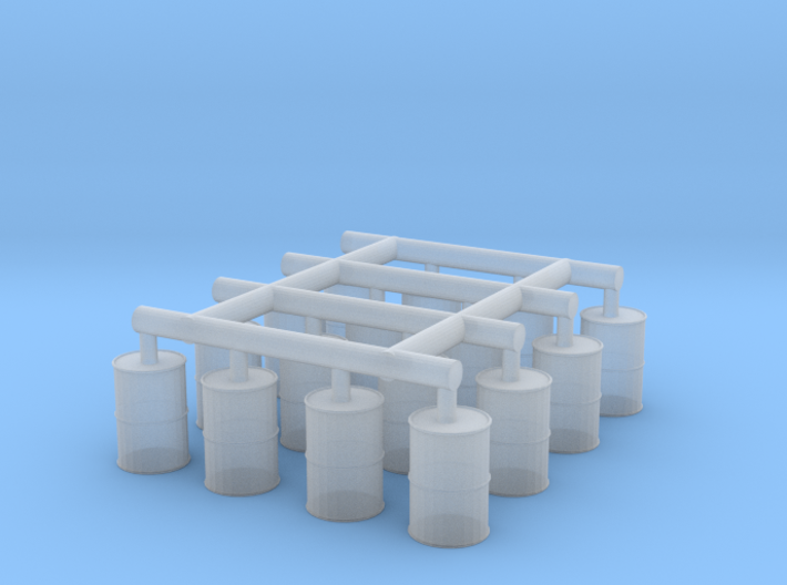 N gauge 55 gallon drums 3d printed