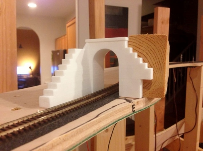N-Scale Tehachapi Tunnel #16 East 3d printed Production Sample: As seen on Chris Kilroy's N-scale model of the Tehachapi.